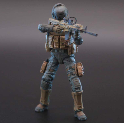 Planet Green Valley EFSA Security Forces Combat Uniform 118 Scale Figure - Surveillance Port 04