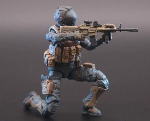Planet Green Valley EFSA Security Forces Combat Uniform 118 Scale Figure - Surveillance Port 05