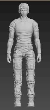 Planet Green Valley Male 3D Sculpt Updates - Surveillance Port 02