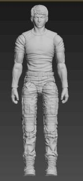 Planet Green Valley Male 3D Sculpt Updates - Surveillance Port 02