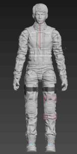 Planet Green Valley Male 3D Sculpt Updates - Surveillance Port 03