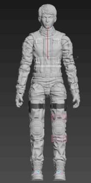 Planet Green Valley Male 3D Sculpt Updates - Surveillance Port 03