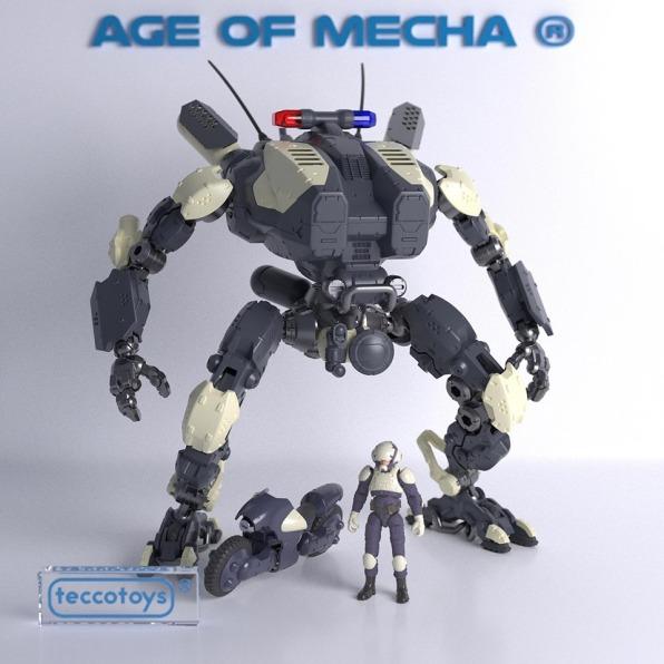 TeccoToys Age of Mecha Police Mech 01 - Surveillance Port