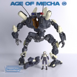 TeccoToys Age of Mecha Police Mech 03 - Surveillance Port