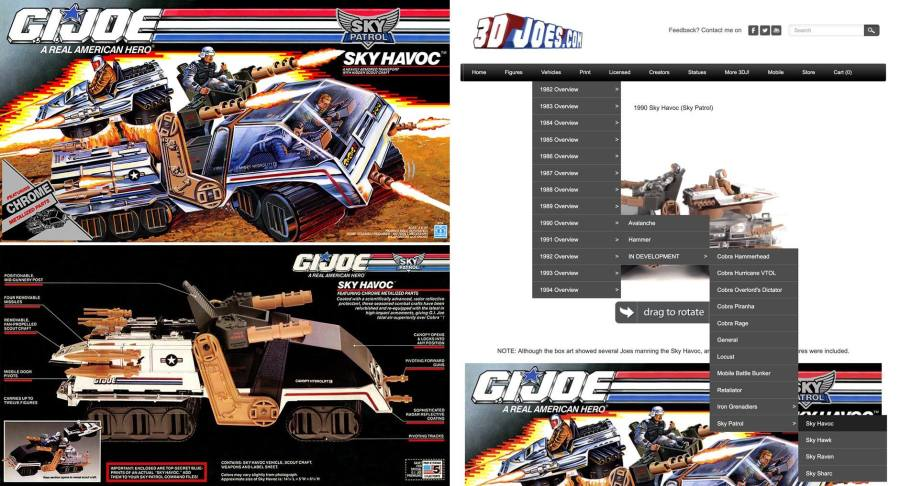 3DJoes GI Joe Sky Havoc - Surveillance Port