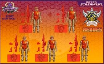 Sunok Studios Hell Screamerz Retro Screamerz Heroes 5 Pack - Surveillance Port