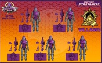 Sunok Studios Hell Screamerz Retro Screamerz Villains 5 Pack - Surveillance Port