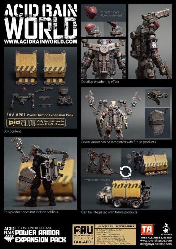 Toys Alliance Acid Rain World FAV-AP01 Power Armor Enhancement Pack - Surveillance Port 01 (1)