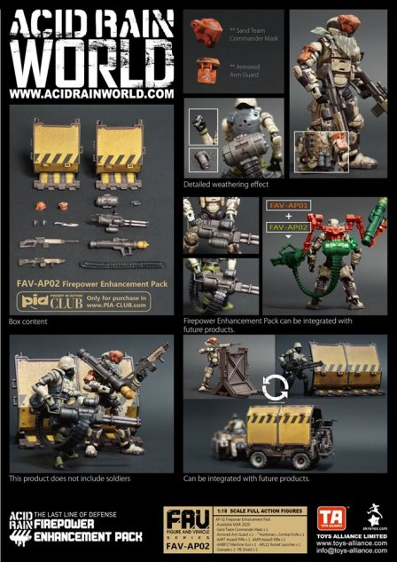Toys Alliance Acid Rain World FAV-AP02 Firepower Enhancement Pack - Surveillance Port 01