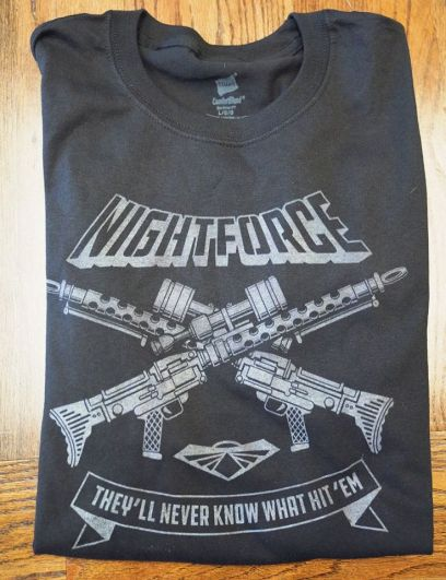 Code Name Iowa Assembly Required 2019 Night Force GITD Tee - Surveillance Port 01