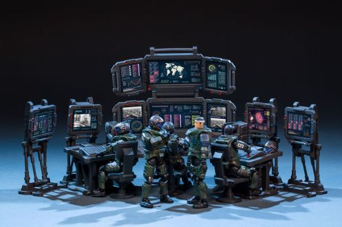 Joy Toy 124 Scale Source Series Battlefield Command Center - Surveillance Port 01