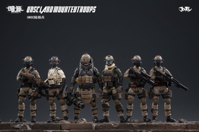 JOY TOY124 Inch Scale SOURCE series UNSC Team Land Mounted Troops - Surveillance Port 01