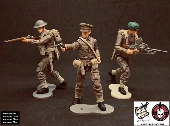 Marauder Gun Runners Marauder Task Force WWII British Soldiers - Surveillance Port 01