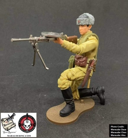 Marauder Gun Runners Marauder Task Force WWII Russian Machine Gunner - Surveillance Port 05