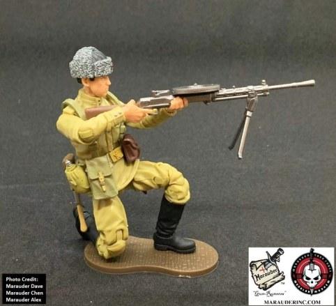 Marauder Gun Runners Marauder Task Force WWII Russian Machine Gunner - Surveillance Port 06