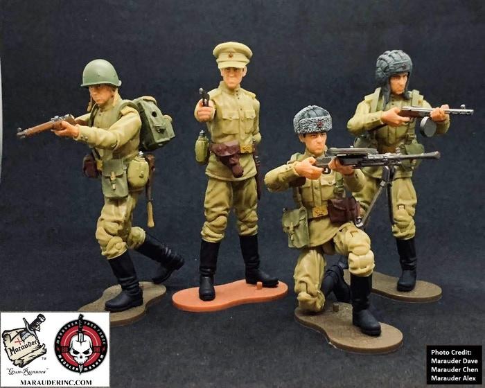 Marauder Gun Runners Marauder Task Force WWII Russian Soldiers - Surveillance Port 01