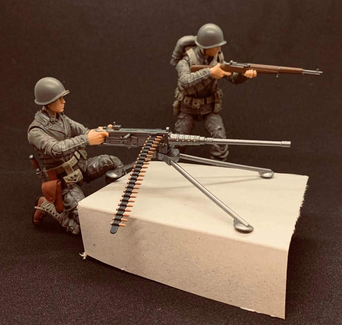 Marauder Gun Runners Marauder Task Force WWII US Army 50 Cal Gunner and US ARmy Rifleman - Surveillance Port 03