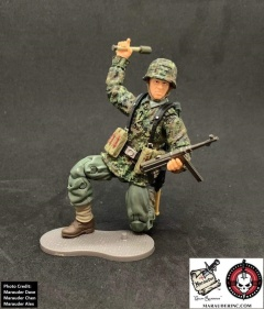 MTF WWII Kickstarter Exclusive Green Camo German Panzer Grenadier - Surveillance Port (6)