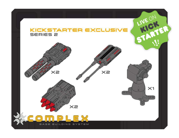 Raginspoon Kickstarter Exclusive Complex Series 2 Missile Set - Surveillance Port