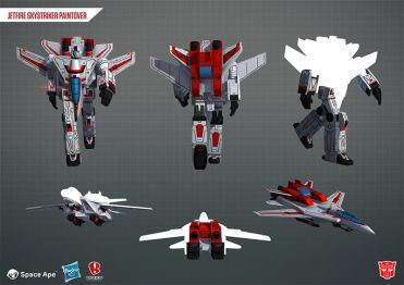 Transformers Earth Wars Autobot Jetfire Sky Striker - Surveillance Port