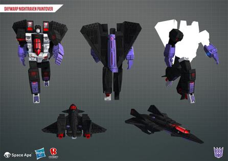 Transformers Earth Wars Decepticon Skywarp Night Raven - Surveillance Port