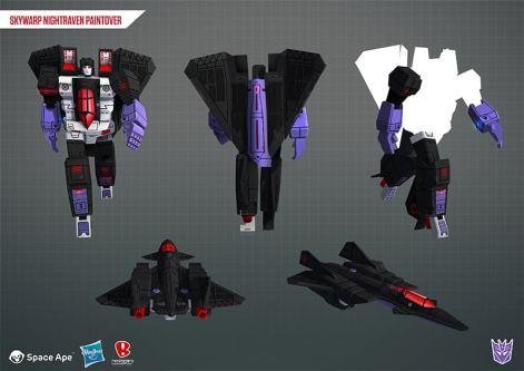 Transformers Earth Wars Decepticon Skywarp Night Raven - Surveillance Port