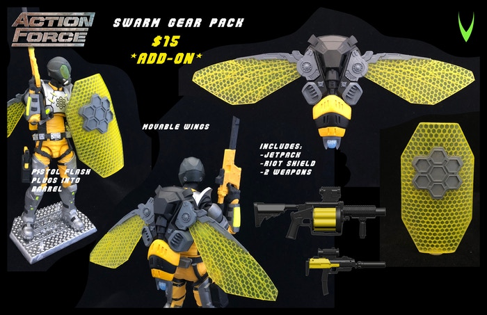 ValaVerse Action Force SWARM Gear Pack - Surveillance Port