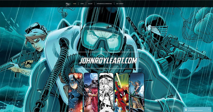 John Royle Art Splash Page - Surveillance Port