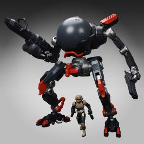 TeccoToys Age of Mecha Fatboy Black Stretch Goal - Surveillance Port