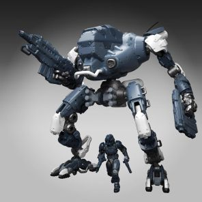 TeccoToys Age of Mecha Heavy Mech Urban Camo Stretch Goal - Surveillance Port