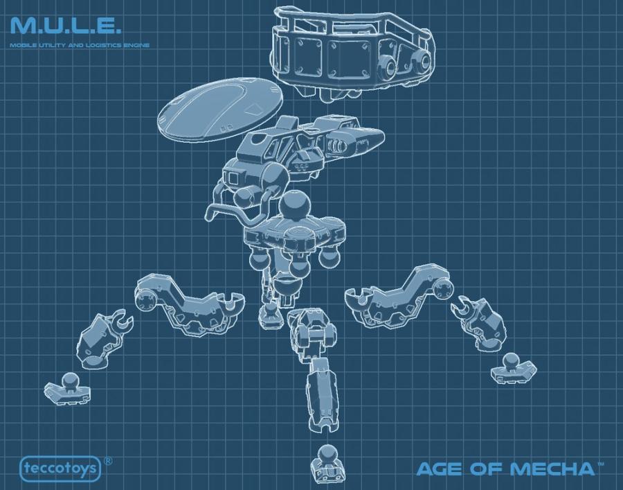 TeccoToys Age of Mecha M.U.L.E. - Surveillance Port 02