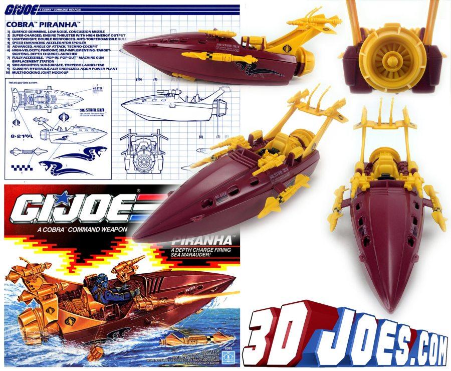 1990 G.I.Joe Cobra Piranha 3D Joes - Surveillance Port 01