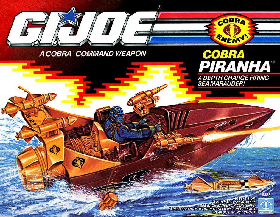 1990 G.I.Joe Cobra Piranha 3D Joes - Surveillance Port