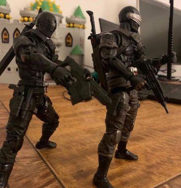 G.I.Joe Classified Snake Eyes Comparison - Surveillance Port 02