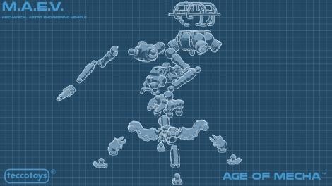 TeccoToys Age of Mecha MAEV - Surveillance Port 02