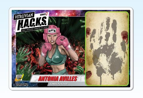 Boss Fight Studio Vitruvian HACKS Series Z Collection Antonia Avilles - Surveillance Port 03