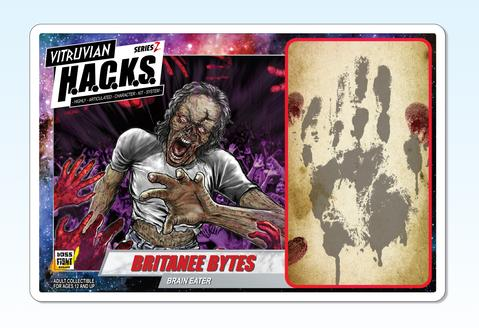 Boss Fight Studio Vitruvian HACKS Series Z Collection Britanee Bytes - Surveillance Port 03