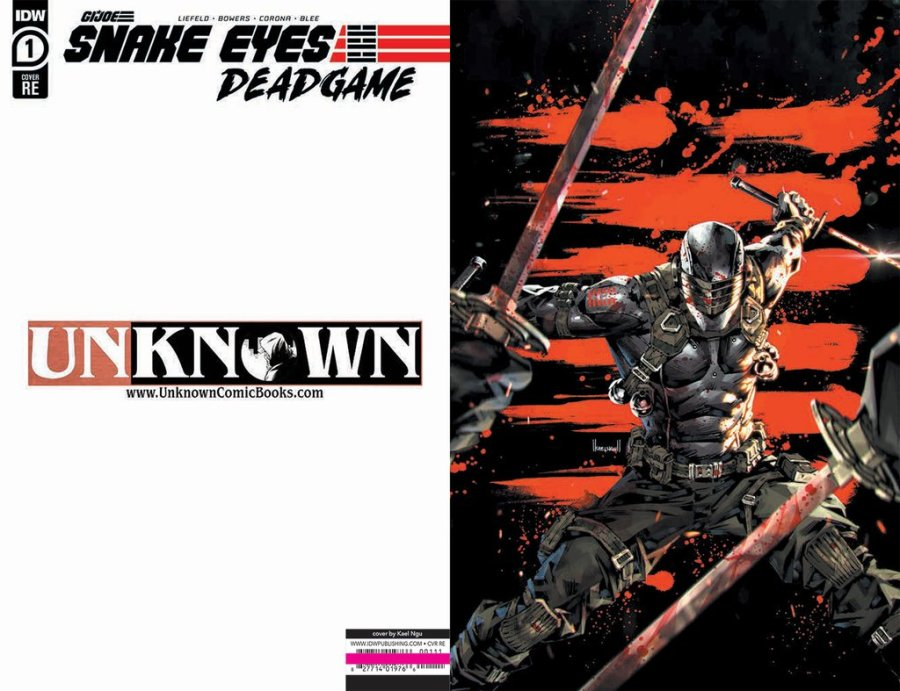 Unknown Comic Books Exclusive Snake Eyes End Game - Surveillance Port 00
