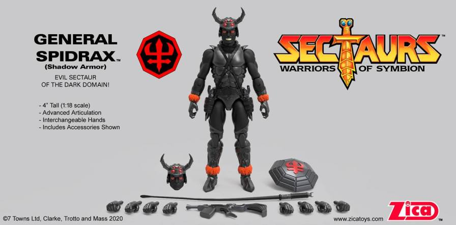 Zica Toys Sectaurs Wave 1.5 General Spidrax Shadow Armor - Surveillance Port