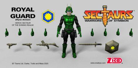 Zica Toys Sectaurs Wave 1.5 Royal Guard Hyve Armor - Surveillance Port