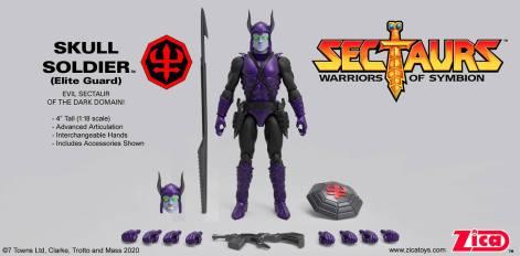 Zica Toys Sectaurs Wave 1.5 Skull Soldier Elite Guard - Surveillance Port