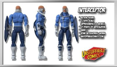 Unstoppable Comics Action Figures 01 Interceptor - Surveillance Port