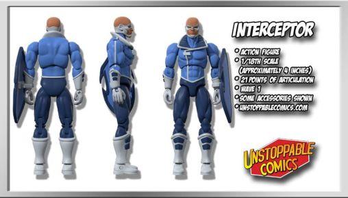Unstoppable Comics Action Figures 01 Interceptor - Surveillance Port