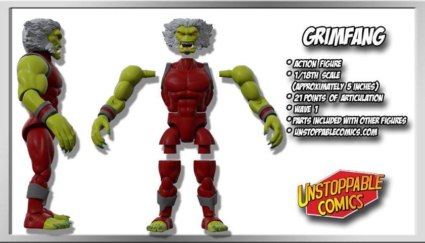 Unstoppable Comics Action Figures 02 Grimfang - Surveillance Port