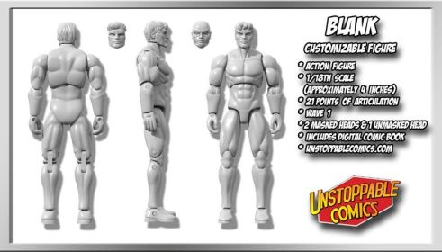 Unstoppable Comics Action Figures 03 Blank - Surveillance Port