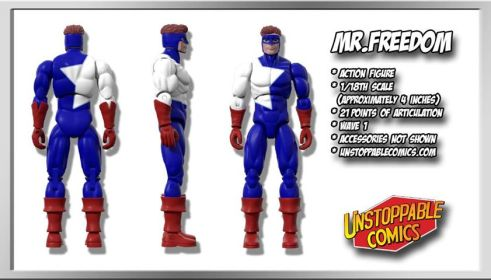 Unstoppable Comics Action Figures 07 Mr. Freedom - Surveillance Port