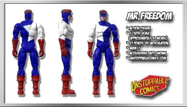 Unstoppable Comics Action Figures 07 Mr. Freedom - Surveillance Port
