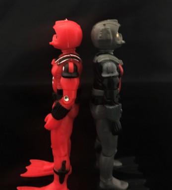 Black Major Red Shadows Eel and SNAKE Armor - Surveillance Port 19