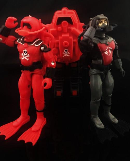 Black Major Red Shadows Eel and SNAKE Armor - Surveillance Port 21