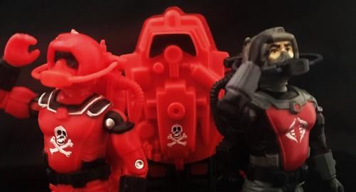 Black Major Red Shadows Eel and SNAKE Armor - Surveillance Port 22